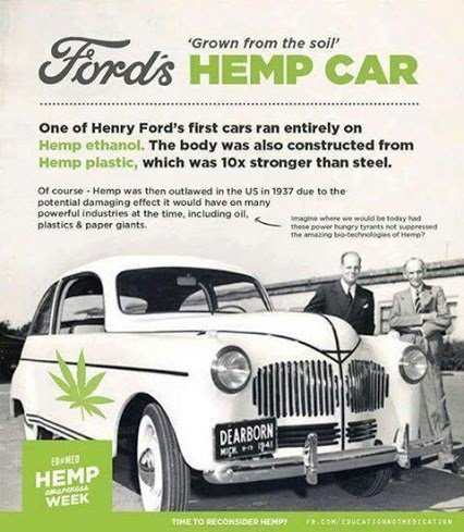 first car was made of hemp
