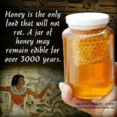 honey can last for 3000 years