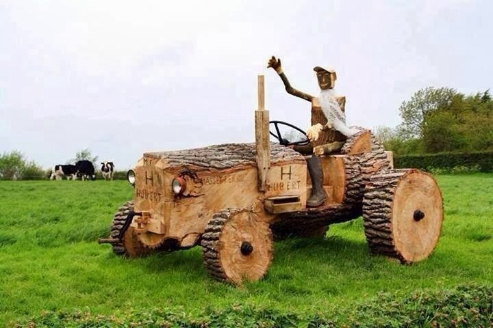 tractor from wood