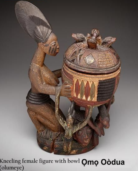 yoruba art kneeling female