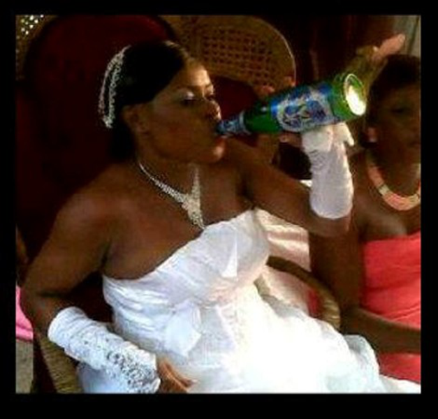 bride-soaking-up-beer