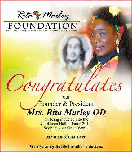 Congratulations to rita marley