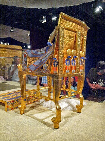 Golden Chair From Tuts exhibit...