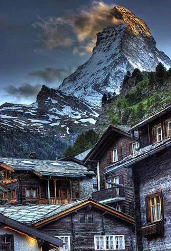Matterhorn from Zermatt, Switzerland.