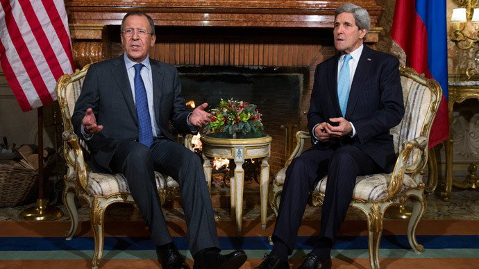 Russian FM Larov and US SecofState Kerry