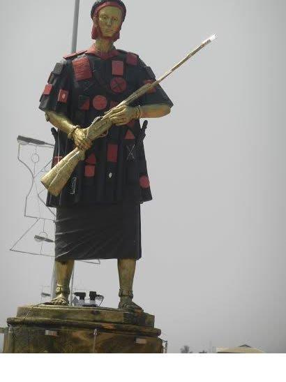 Yaa Asantewaa, then queen mother of Ejisu led an Ashanti army