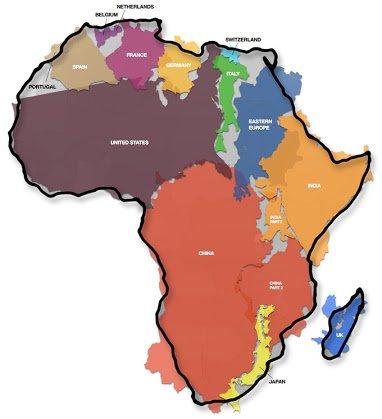 africa true size