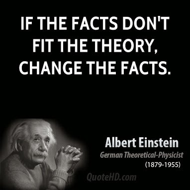 albert-einstein on facts and theories