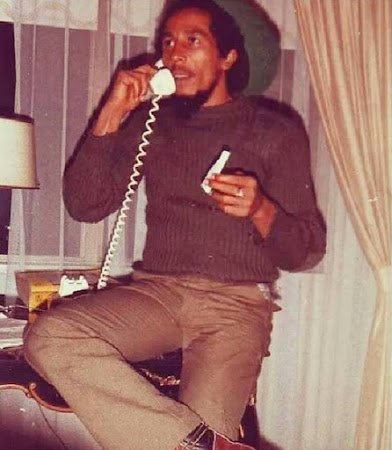 bob marley with ganja