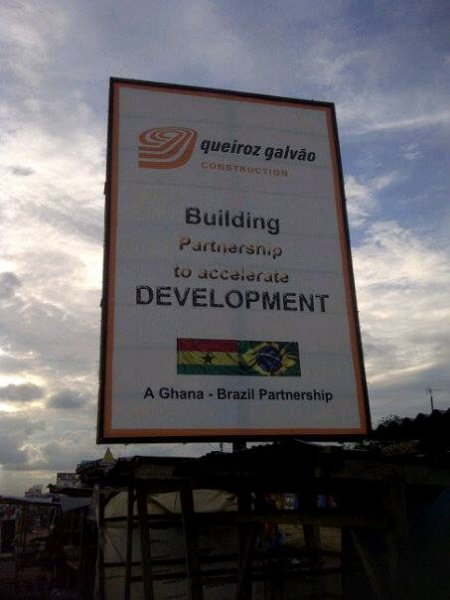 brazilian company billboard in kasoa