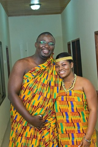 couple in fine kente