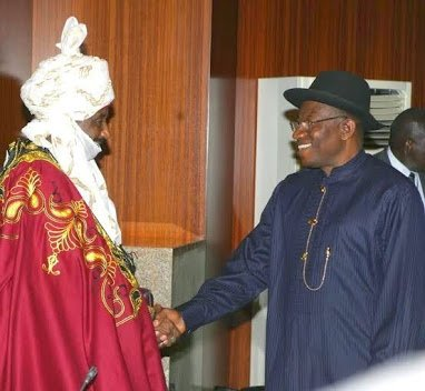emir of kano sanusi and jonathan
