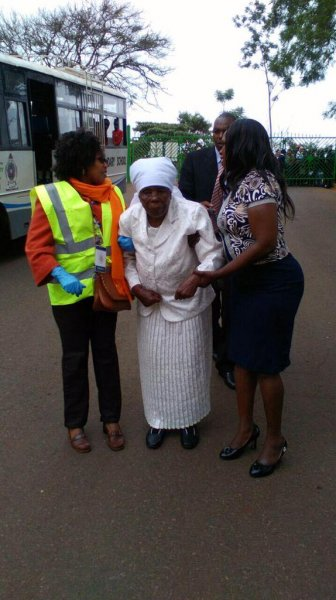 general dedan kimathi widow arriving for obama's show