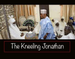 jonathan-goodluck kneeling before sanusi