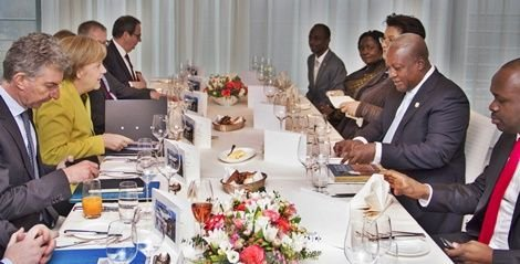 mahama with german chancellor merkel