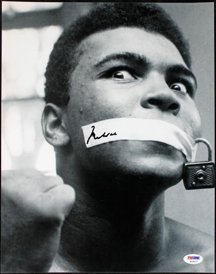 mohammed ali with padlock