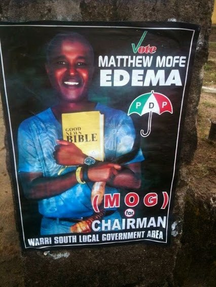 nigerian politician with bible