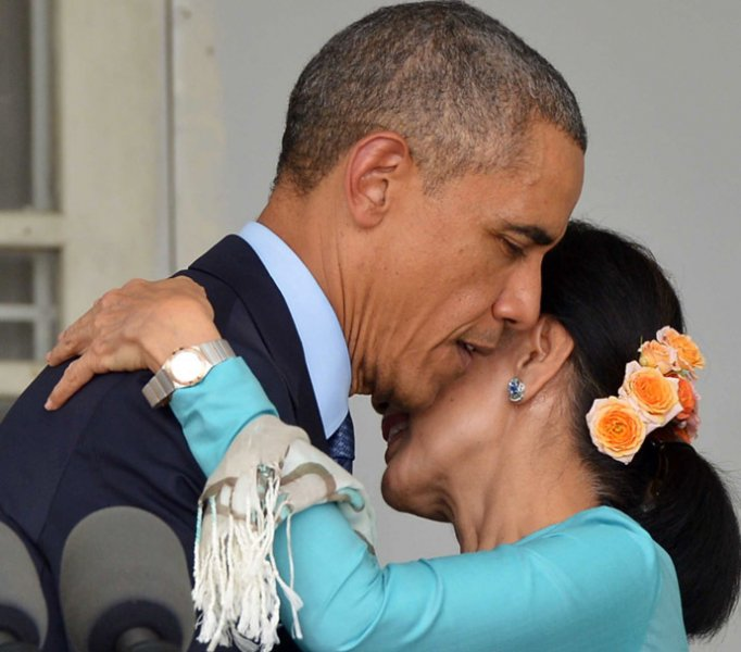 obama and aung suu kyi