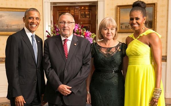 obama and new zambian president