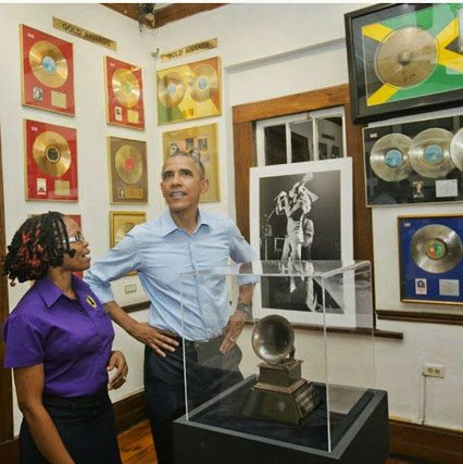 obama at bob marley museum