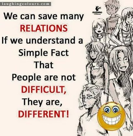 people are not difficult they are different