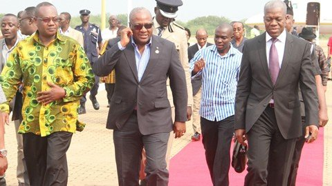 president mahama on trip