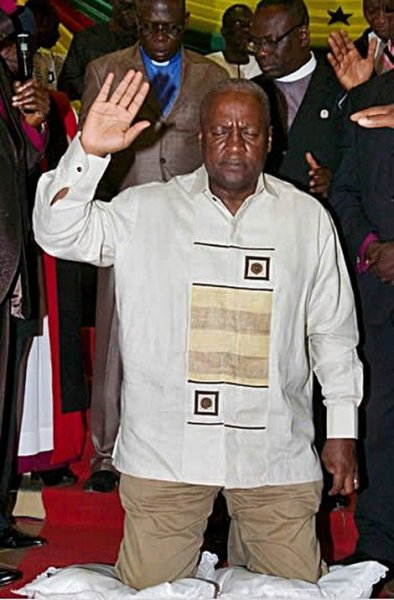 president mahama praying