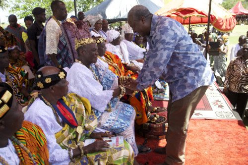 president mahama with volta chiefs