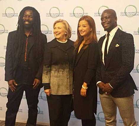 rockson with hilary clinton