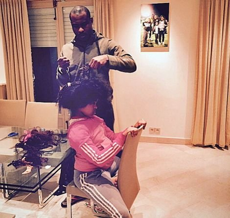 vincent enyeama grooming daughter hair