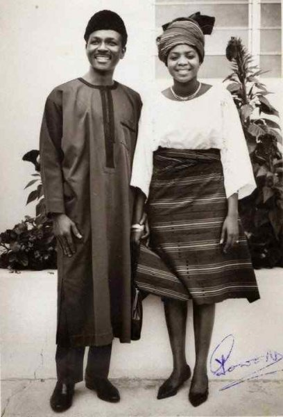 yakubu gowon and wife