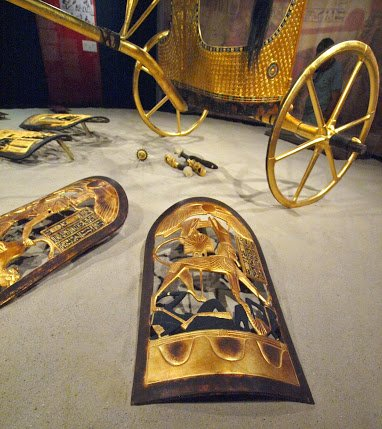 Golden Chariot and ShieldZ,.. From,...Tuts Exhibit