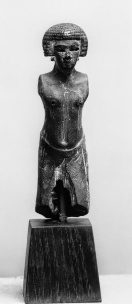 Male figure Standing, wood with black paint, Middle Kingdom, Walters Museum