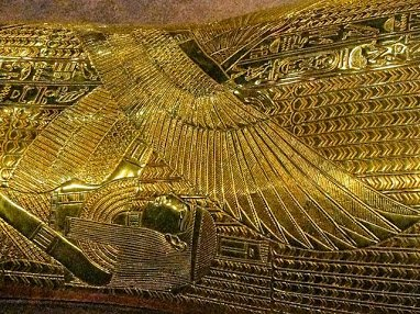 Tut was discovered in all these layers of gold,..with A gold Death Mask on his Body,..like a russian Doll