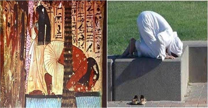african bending down to worshipcopied by moslems