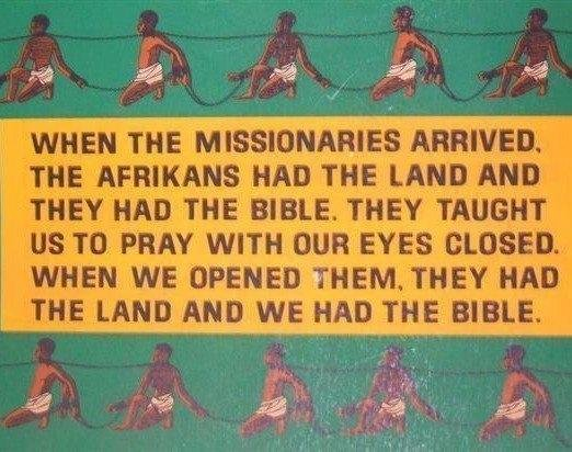 bible and land