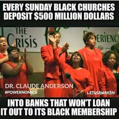 black churches ban with banks that wont loan them money