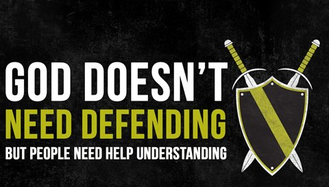 god does not need defending