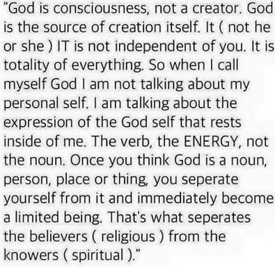 god is consciousness