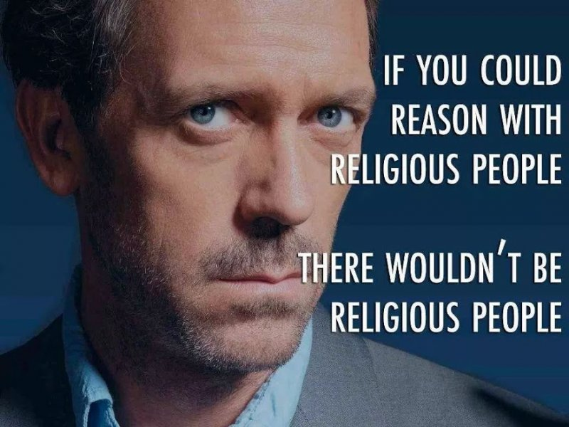 if u could reason wt religious ppl