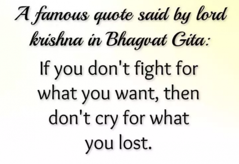if you dont fight for what you have