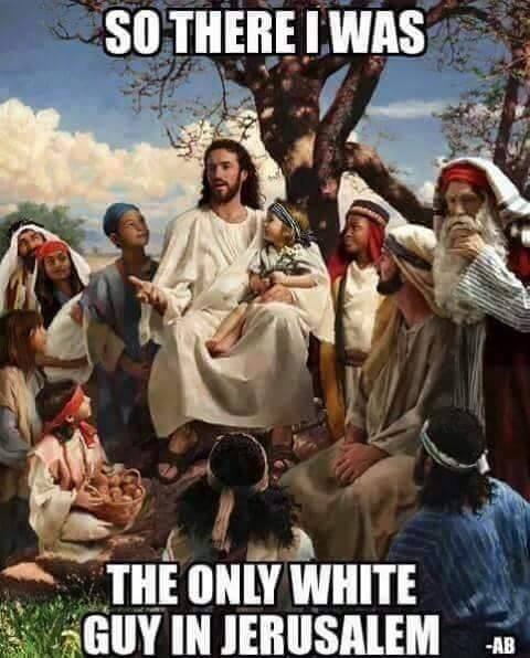 jesus the only white guy in jerusalem