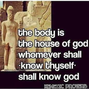kemetic proverb on you and god