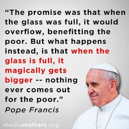 pope on no care for poor
