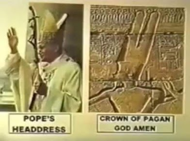 pope with pagan cap