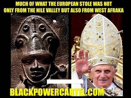 pope's hat stolen from west africa