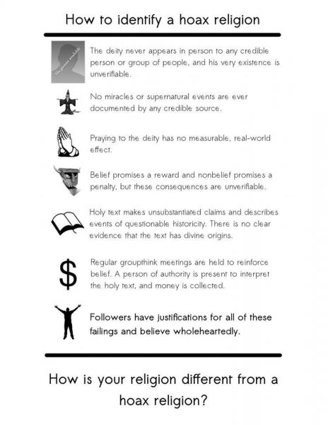 religions are hoaxes