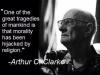 clarke on religion hijacking morality