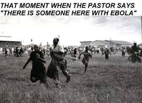 when pastor say there is ebola