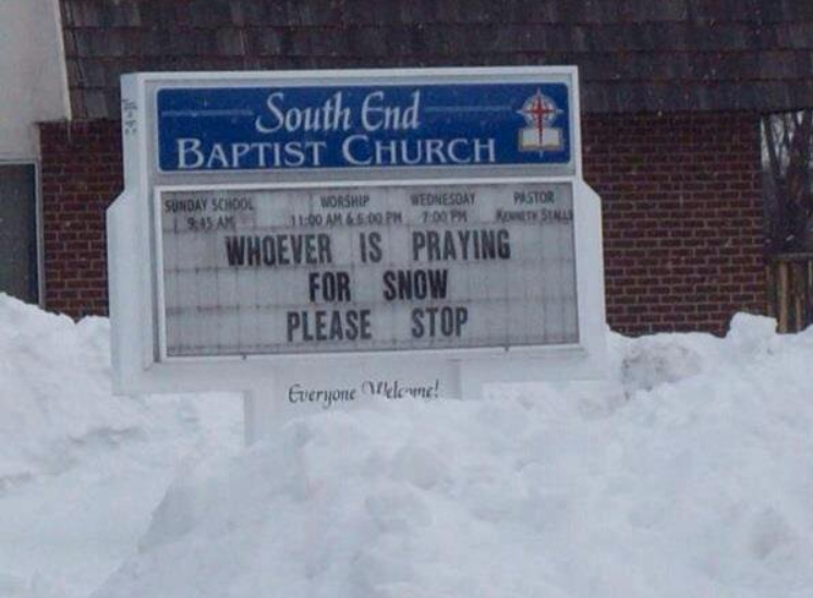 whoever is praying for snow must stop